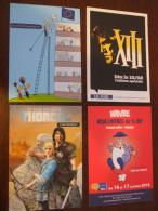 4 Carte Bd # XIII # Thorgal # Leonard # Illustrateur - A Voir - Cartes Postales