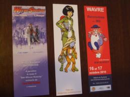 3 Marque-pages Bd # Wayne Shelton # Leonard # Yoko Tsuno- A Voir - Marque-pages