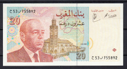 MARRUECOS 1996  20 DIRHAMS HASSAN II NUEVO SIN CIRCULAR UNCIRCULATED  PICK Nº 67 VER FOTO.B660 - Marruecos