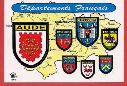 Carte Contour Géographique Du Département De L'AUDE - Carte Geografiche