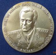 Romania /  Medal Ø60 Mm  / Gen. Vasile Milea / Tombac, 110 G - Entriegelungschips Und Medaillen