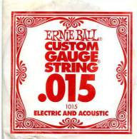 CORDA PER CHITARRA ERNIE BALL USA GUITAR STRING ELECTRIC OR ACOUSTIC .015 - Accessori & Bustine