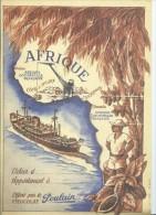 14169 - Petite Affiche A4 (Encart Bristol) th�me Chocolat, Afrique et Bateau ,�dit� par Chocolat POULAIN