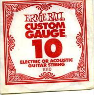 CORDA PER CHITARRA ERNIE BALL USA GUITAR STRING ELECTRIC OR ACOUSTIC .1010 - Accessori & Bustine