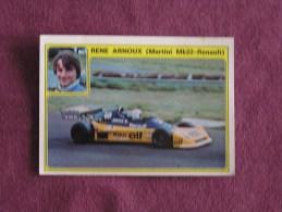 PANINI Super Auto Original Sticker N° 28 René Arnoux Renault MK  Vignette Chromo Trading Card Vignette Cards Automobile - Panini
