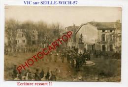 VIC SUR SEILLE-WICH-Concert Militaire-Musique-Animation-CARTE PHOTO Allemande-Guerre-14-18-1WK-FRANCE-57- - Vic Sur Seille