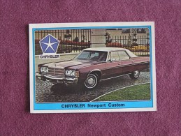 PANINI Super Auto Original Sticker N° 79 Chrysler Newport Custom Vignette Chromo Trading Card Vignette Cards Automobile - Panini