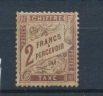 TAXE N°26 2f Marron Neuf Luxe **. Signé CALVES. B/TB. X1058 - Postage Due