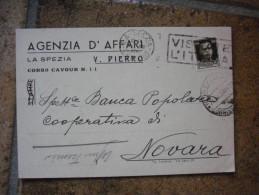 Cartolina Commerciale Pubblicitaria La Spezia Agenzia D'affari  Viaggiata - La Spezia
