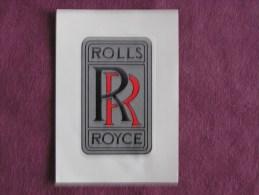 PANINI Super Auto Original Sticker N° 170 Rolls Royce Badge Vignette Chromo Trading Card Vignette Cards Automobile - Panini