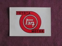 PANINI Super Auto Original Sticker N° 178 Toyota Badge Ecusson Vignette Chromo Trading Card Vignette Cards Automobile - Panini