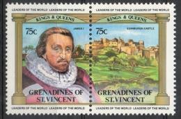 Grenadines St. Vincent 1983 - Giacomo I E Castello Di Edimburgo James I And Edinburgh Castle MNH ** - St.Vincent E Grenadine