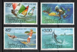 Grenadines St. Vincent 1985 - Sport D'acqua Watersports Turismo Tourism MNH ** - St.Vincent E Grenadine