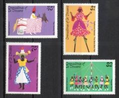 Grenadines St. Vincent 1985 - Danze Tradizionali Traditional Dances MNH ** - St.Vincent E Grenadine