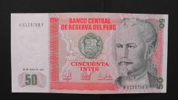 Peru - P 131b - 50 Intis - 1987 - Unc - Peru