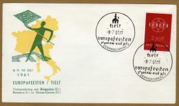 Enveloppe Cover Brief FDC 1111 Europa Europafeesten Tielt - FDC