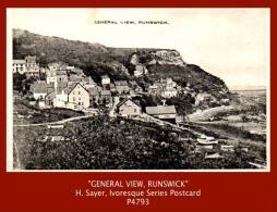 "P4793 P4793a  ""GENERAL VIEW, RUNSWICK""  (c.1920's. B/w Matt Real Photo Postcard) - England"