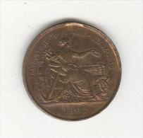 "Médaille Napoléon III 1867 ""Agriculture . Industrie . Beaux-Arts"" - France"