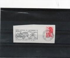 Flamme  (Musée National De L'Automobile De Mulhouse .) - Poststempel (Briefe)