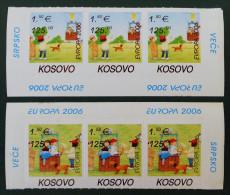 EUROPA 2006 - NEUFS ** - PH 0047 - 2 BANDES HAUT ET BAS DE FEUILLES - EMISSION KOSOVAR - Kosovo