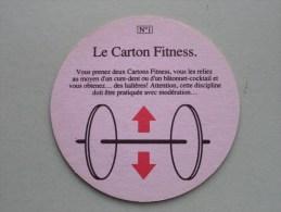 Le Carton Fitness N° 1 Lucky Strike GAMES ( Sous Bock / Coaster / Onderlegger ) Zie Foto´s Voor Detail ! - Bierdeckel