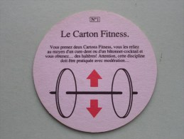 Le Carton Fitness N° 1 Lucky Strike GAMES ( Sous Bock / Coaster / Onderlegger ) Zie Foto´s Voor Detail ! - Beer Mats