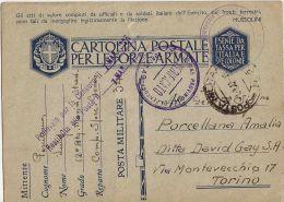 FRANCHIGIA WWII POSTA MILITARE 34 1942 GIOVANNI BERTA LIBIA X TORINO - 1900-44 Vittorio Emanuele III