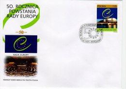 Pologne 1999 FDC Michel 3762 (1 FDC) Y 3540 50 Ans Conseil De L'Europe - FDC