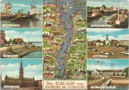 K2624 Der Elblauf Von Hamburg Bis Cuxhaven / Viaggiata 1969 - Cuxhaven