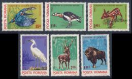 Romania Romana Rumänien 1980 Mi 3705 /10 YT 3271 /6 SG 4566 /71 ** Eur. Nature Protection Year / Naturschutzjahr - 1948-.... Republiken