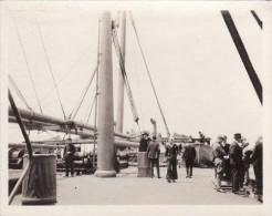 Photo 1917 Sur Le Paquebot S.S. MONGOLIA - Soldats Américains (A95, Ww1, Wk 1) - Dampfer