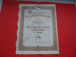 LES AFFRETEURS REUNIS  (1920) - Actions & Titres