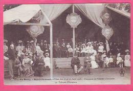EN BERRY HENRICHEMONT FETES DES 15 ET 16 AOUT 1908 CONCOURS DE POMPES A INCENDIE TRIBUNE D'HONNEUR POMPIERS - Henrichemont