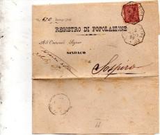 1896   LETTERA CON ANNULLO SAN DANIELE RIPA PO CREMONA