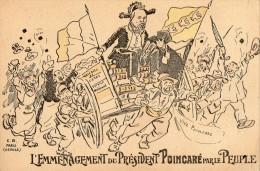 l emmenagement du president POINCARE par le peuple