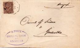 1902   LETTERA CON ANNULLO AZZANELLO  CREMONA + CASALBUTTANO