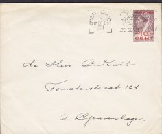 Netherlands Postal Stationery Ganzsache Entier Curacao Overprinted 10 C Wilhelmina Slogan AMSTERDAM 1951 To´s-GRAVENHAGE - Postwaardestukken