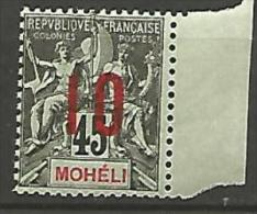 MOHELI N� 21  NEUF** LUXE