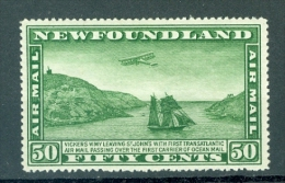 Newfoundland C7 Trans Atlantic Flight Vickers Vimy Over Carrier Of Ocean Mail VLH 1931 A04s - Newfoundland