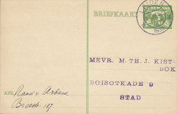Netherlands Postal Stationery Ganzsache Entier 3 C Taube Deluxe LEIDEN 1933 To STAD (2 Scans) - Postal Stationery