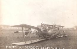 PHOTO AVIATION AVION CHUTE ACCIDENT ARMEE AIR PILOTE SERGENT STORM 1925 INSIGNE ESCADRILLE