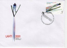 Pologne 2001 FDC Michel 3879 (1 FDC) Y 3649 Championat Du Monde Aut à Skis Adam Malysz - FDC