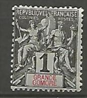 GRANDE COMORE SUR GRIS N� 1a NEUF* / CHARNIERE