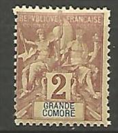 GRANDE COMORE  N� 2 NEUF* / CHARNIERE