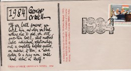 India-Special Postal Cover George ORWELL - Timbres