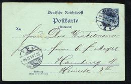 Germany 1901 Postal Stationery Postcard Hamburg (S565) - Deutschland