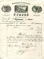 MANUFACTURE DE CHAUSSURES EN TOUS GENRES.P.FAURE 188 à190 FAUBOURG SAINT DENIS.PARIS. - Textile & Clothing