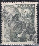 Sello  1 Pta Caudillo, Lineal CERTIFICADO, Num 1056 º - 1931-Today: 2nd Rep - ... Juan Carlos I