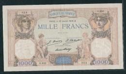 FRANCE: 1000F Cérès Et Mercure N° 37 (4). Date 22/01/1930 B - 1 000 F 1927-1940 ''Cérès Et Mercure''