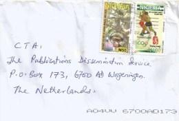 Nigeria 2014 Lafik Hologram Guenon Monkey N50 Wrestling Beijing Olympic Games N100 Cover - Nigeria (1961-...)